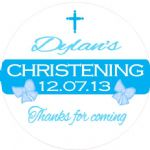 Personalised Boy Christening Sticker Design 5